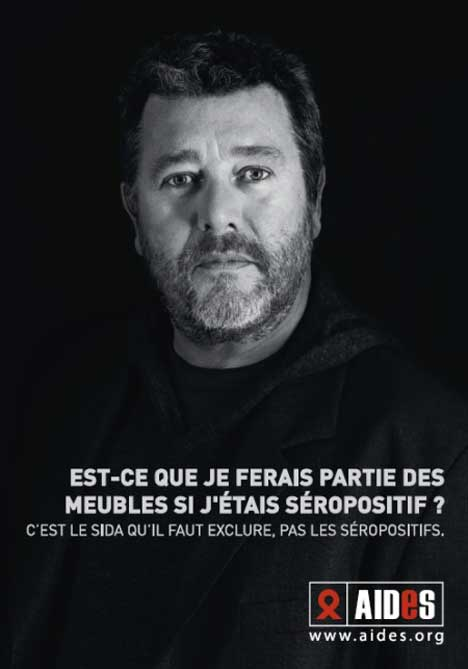 Philippe Starck in AIDES print advertisement