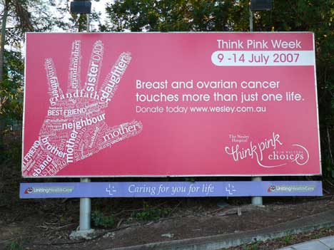 Think Pink Week billboard