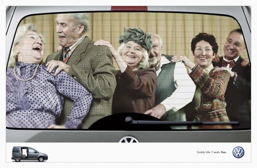 Fun in the back of a Volkswagen Caddy wagon