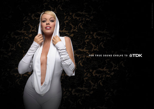 Not Kylie Minogue in TDK print ad