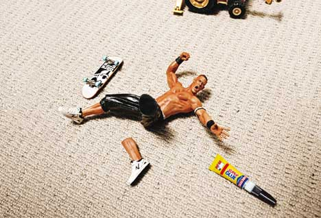 Broken toy skater cries out for Super Glue