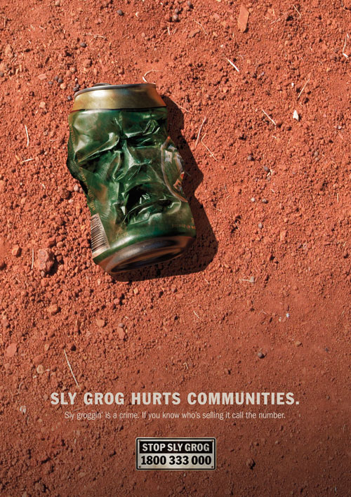 Sly Grog Beer Can Face