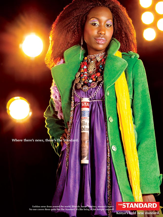 Fashion model in The Standard print advertisement