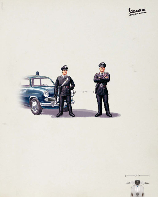 Vespa Cops print advertisement