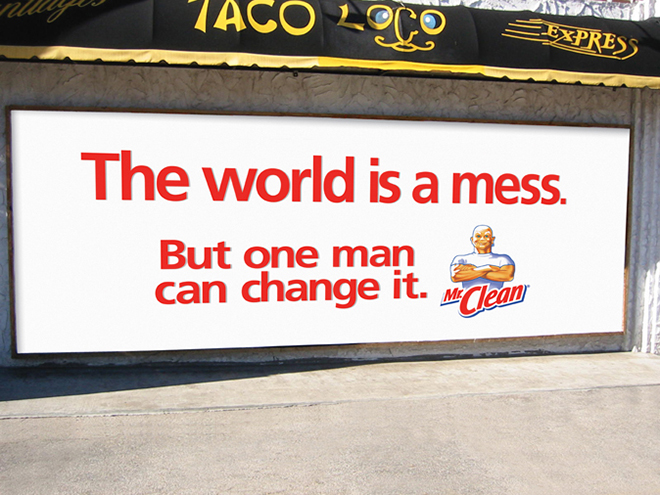Mr Clean Clean Wall advertisement