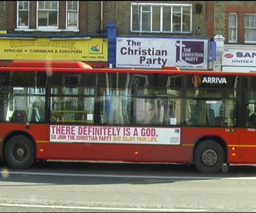 Christian Party bus advert