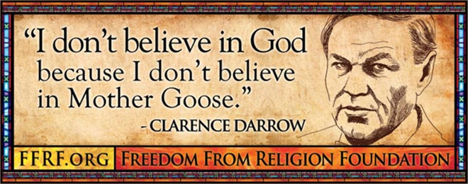 Clarence Darrow in Freedom From Religion bus advertisement