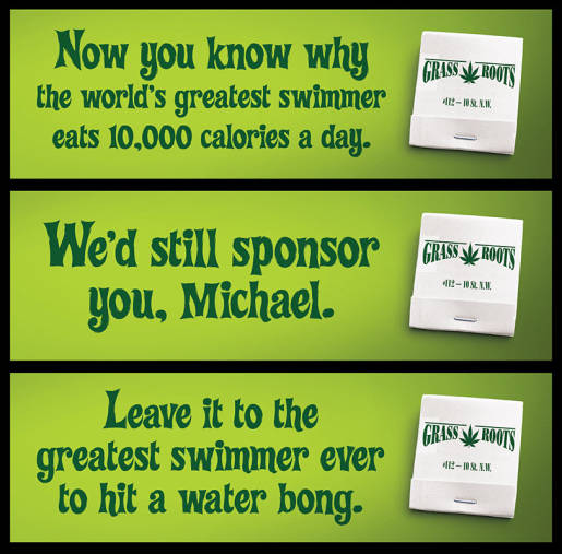 Grass Roots support for Michael Phelps