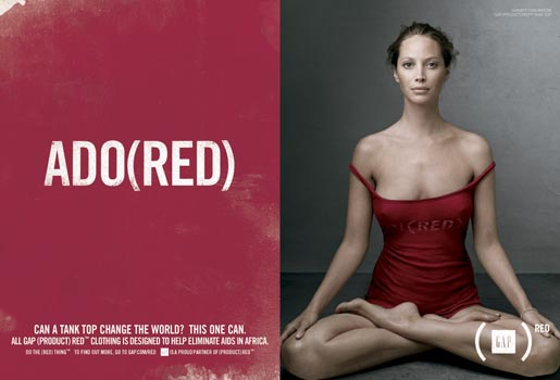 Gap Do The Red Thing - Christy Turlington Ado(red)