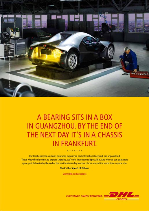 DHL Express ImpexCar Print Ad