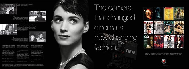Red Epic Vogue Rooney Mara print ad