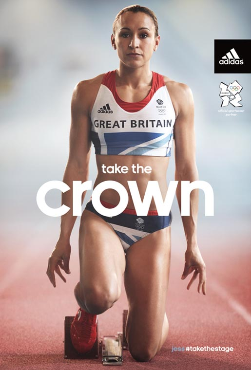 Adidas Take The Crown print ad with Jessica Ennis