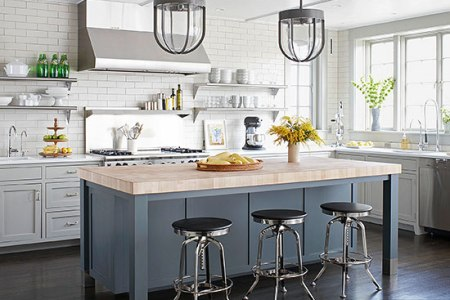 farmhouse contemporary kitchen better homes and gardens