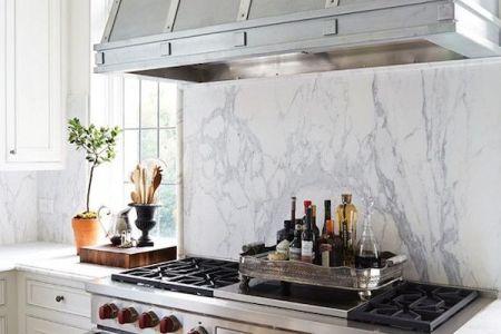 zinc range hood marble backsplash kitchen design by cantley and company