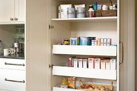 pullout sliding pantry for the kitchen