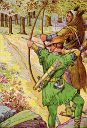 Robin_shoots_with_sir_Guy_by_Louis_Rhead_1912