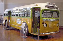 The No. 2857 bus on which Parks was riding before her arrest . Image credit via Wikipedia