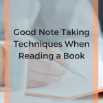 good note taking techniques when reading a book