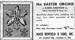 Mack Henfield and Sons The Easter Orchid A Carol Creation WWD 19530320