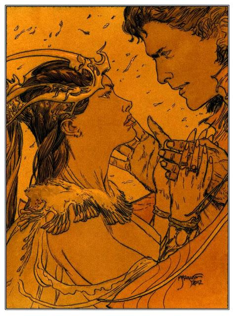 A Princess Of Mars - Dejah Thoris & John Carter by Michael Kaluta