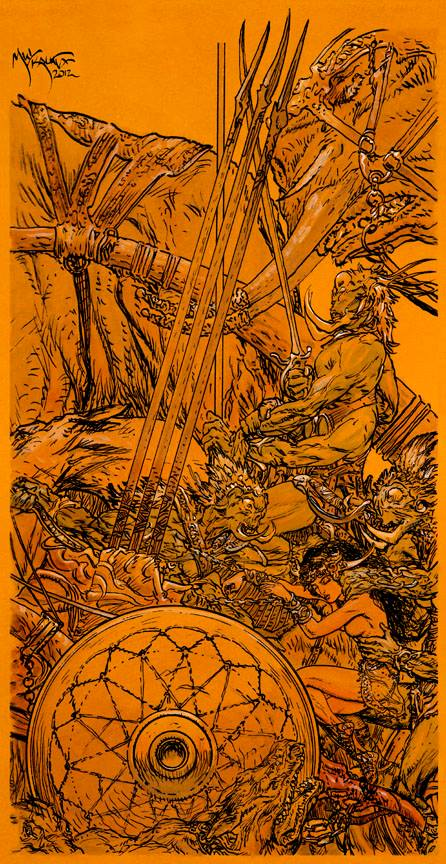 A Princess Of Mars - The Prisoner of the Tharks by Michael Kaluta