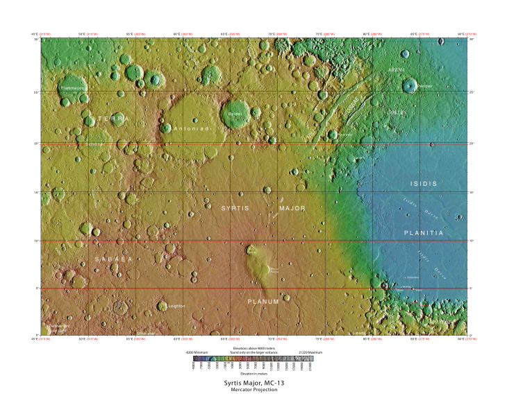 USGS-Mars-MC-13-SyrtisMajorRegion-mola