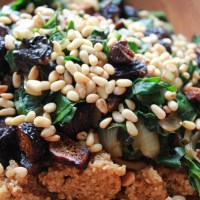 Fig, Pine Nut, and Quinoa Salad