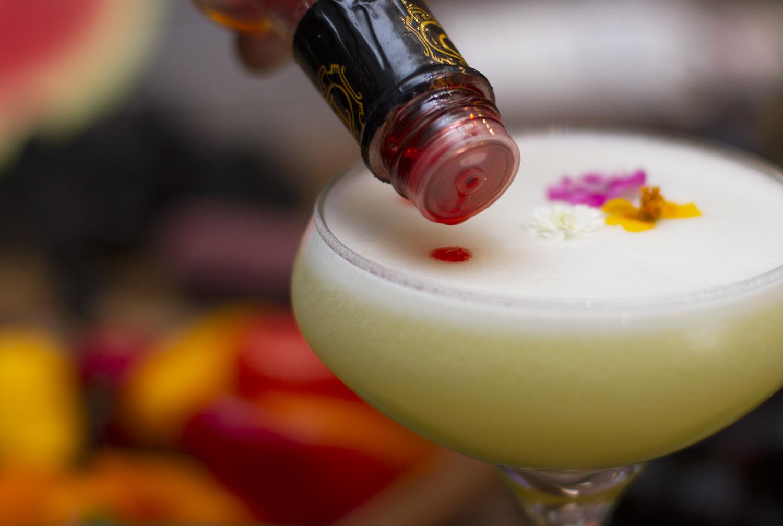 making craft cocktails