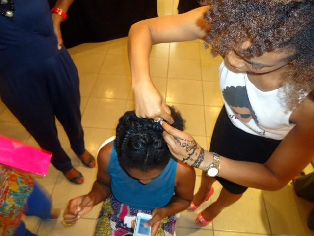 Ijeoma working on the volunteer