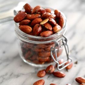 Brown Butter, Sage, and Rosemary Roasted Almonds