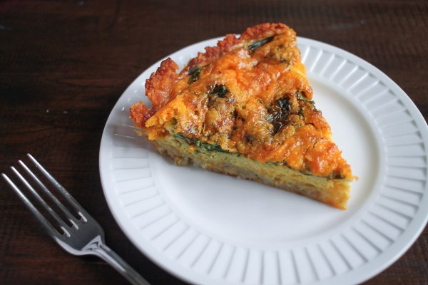 Spinach and Cheddar Tater Tot Quiche7