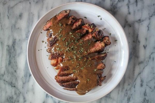 Steak with Bourbon Cream Sauce-3
