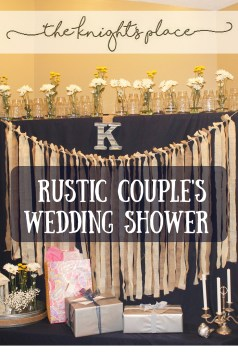 Rustic couple wedding shower