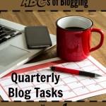 Quarterly Blog Tasks