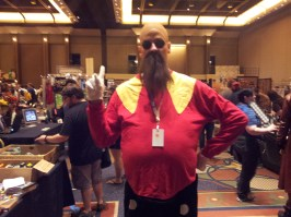 That gut is purely for cosplay, he told us.