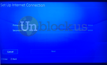PS4 instructions from the Unblock Us website
