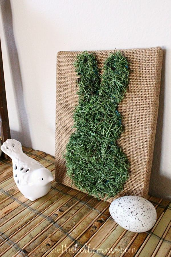 Moss and Burlap bunny