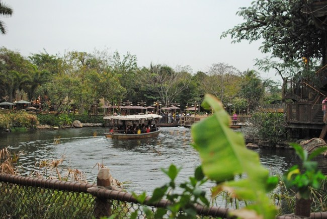 Jungle Cruise Boat at Hong Kong Disneyland