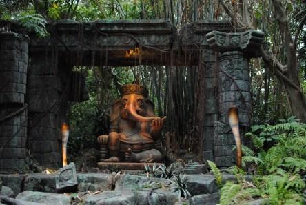 Jungle Cruise Elephant Statue t Hong Kong Disneyland