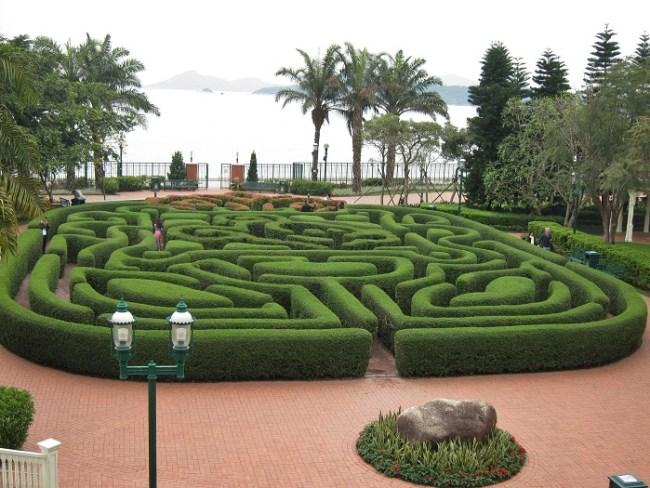 Hedge Maze at Hong Kong Disneyland Hotel