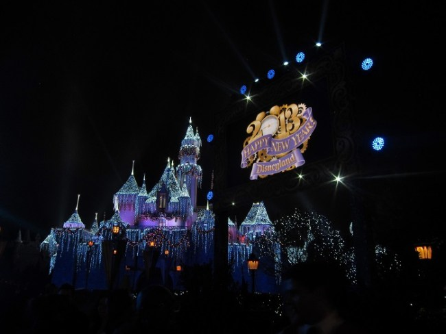 Disneyland Castle on New Year's Eve