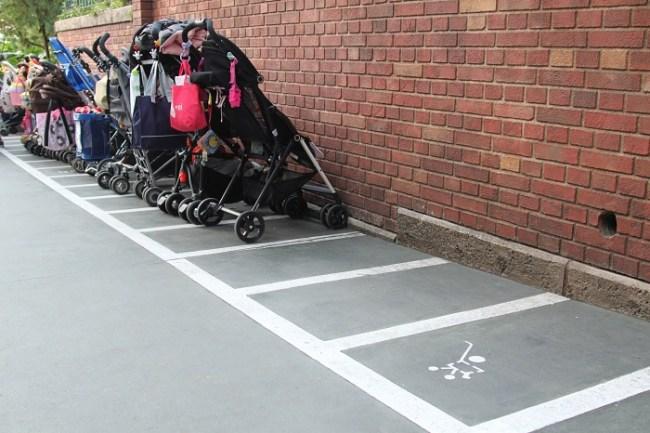 Stroller Parking at Tokyo Disney Haunted Mansion