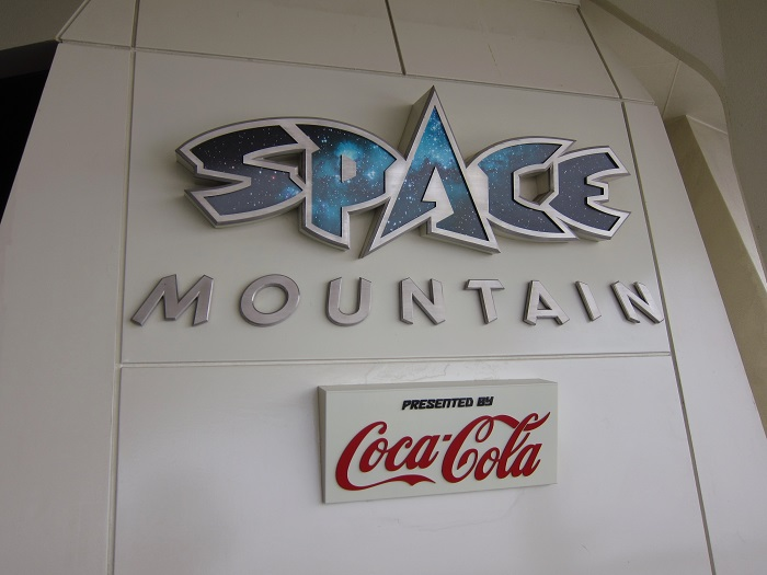 Space Mountain Sign at Tokyo Disneyland
