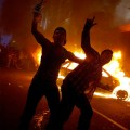 Rioters revel in their self-created chaos.
