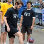 Some of Vancouver's best soccer players came out to play a mini tournament on the streets of Vancouver. Photo by Stephen Wu