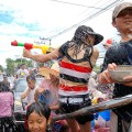 Thais celebrate Songkran festival in Thailand - Photo by Austin Sakchai