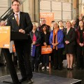 B.C. NDP leader Adrian Dix speaks to a crowd of supporters. - Photo courtesy of B.C. NDP