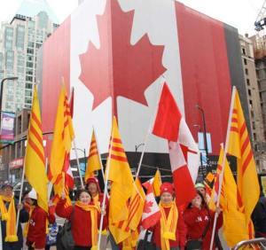 Les vietnamiens accueillent les jeux olympiques de Vancouver 2010