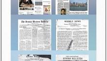 En 85 ans, le Jewish Independent a vu ses Unes évoluer. | Photo de Jewish Independent