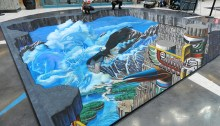Photo de Victoria Chalk Art Festival   Fresque 3D au Fetival international de dessin à la craie de Victoria